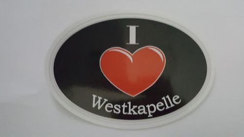 Sticker I Love Westkapelle